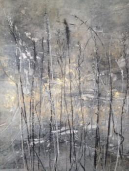 """Winter: Grassland in Black and White,"" 23"" x 20"" $500© Linda Snouffer, Botanical Printmaker        Lindasnouffer.com"