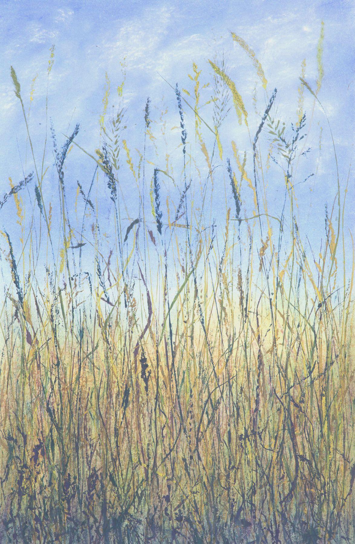 """""""Brookside,""""  37"""" x 19"""" $600  ©Linda Snouffer, Botanical Printmaker        Lindasnouffer.com"""