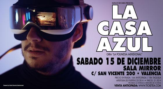 La Casa Azul Cartel Concierto Valencia