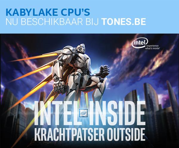 Kabylake CPU's nu beschikbaar bij Tones.be