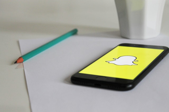 Snapchat app on black smart phone