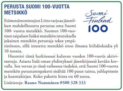 Suomi 100V metsikkö