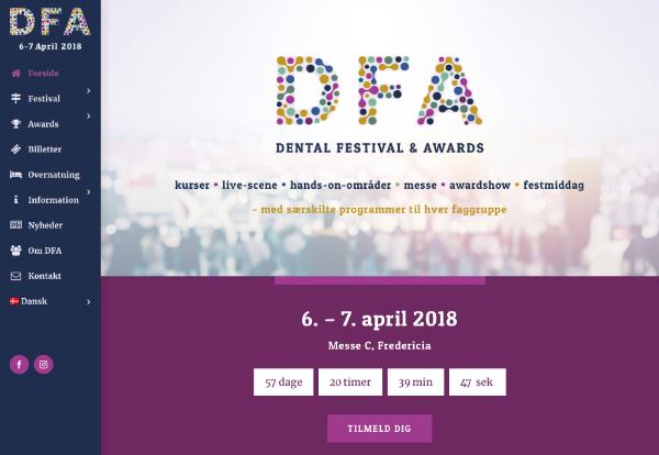 DFA hjemmeside