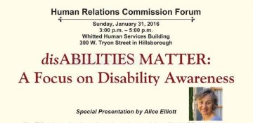 Click here for more information on the disAbilities MATTER forum