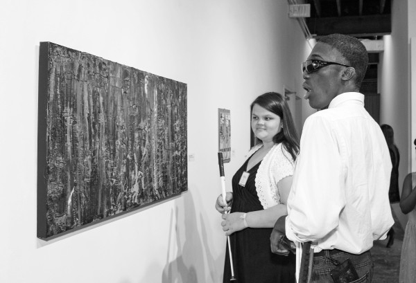 People Viewing Art