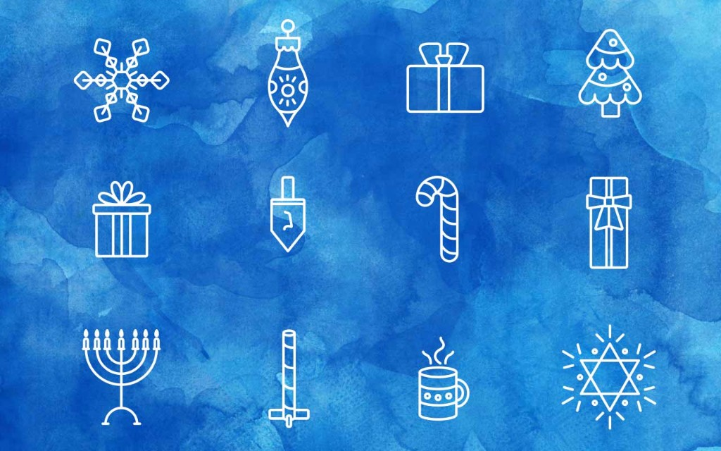 Holiday Line Art Icons