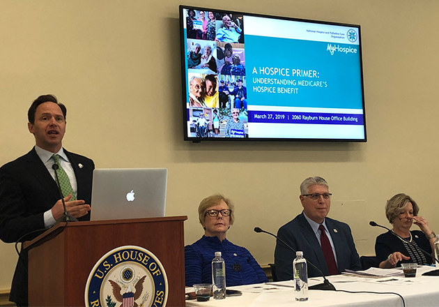 Photo L to R: Congressional Briefing panelists, Edo Banach, Judi Lund Person, Greg Wood, and Angela Sells.