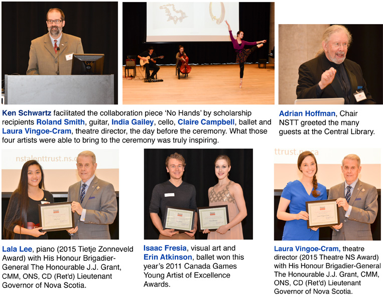 Nova Scotia Talent Trust, Special Awards Ceremony December 2015