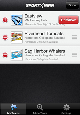 Download Sport Ngin mobile from the App Store.
