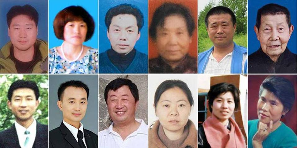 12 of the 96 people who died from Falun Gong persecution inside China.