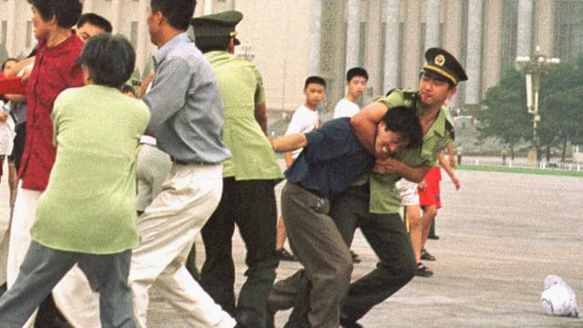 Chinese police wrongfully arrest Falun Gong practitioners.