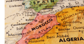 Map showing Morocco