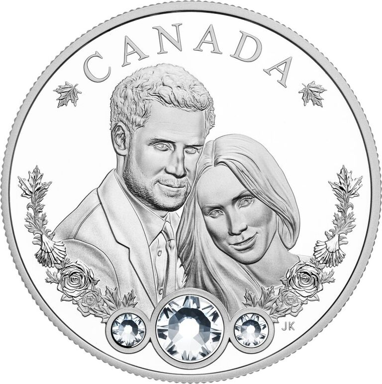 Coin with Prince Harry and Megan Markle