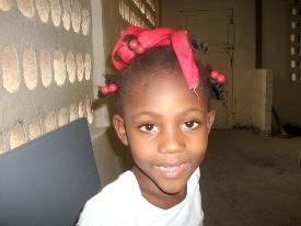 Photo of 6 year old daughter of our Haitian Compound Manager