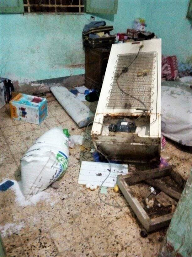 Damage to home of parents of Fady Yousef in village in Minya Governorate, Egypt. (Nader Shukry, Facebook
