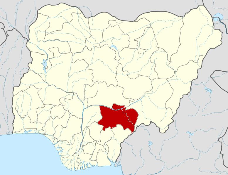 Benue State, Nigeria. (Wikipedia, Himalayan Explorer based on work by Uwe Dedering)