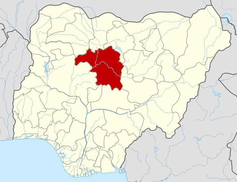 Kaduna state, Nigeria. (Wikipedia, Himalayan Explorer based on work by Uwe Dedering)