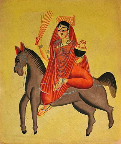 Sheetala, Hindu goddess of healing popular in northern India. (Wikipedia)