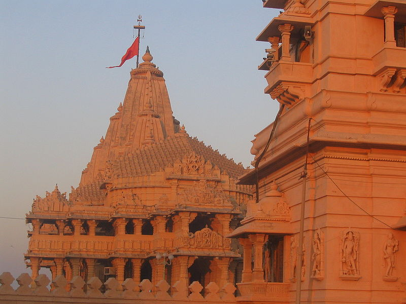 Somnath Temple in Gujarat, India. (Wikipedia)