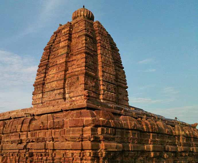 Sangameshwar Temple at Alampur, Mahabubnagar District, Telangana state. (Suman Amarnath, Wikipedia)