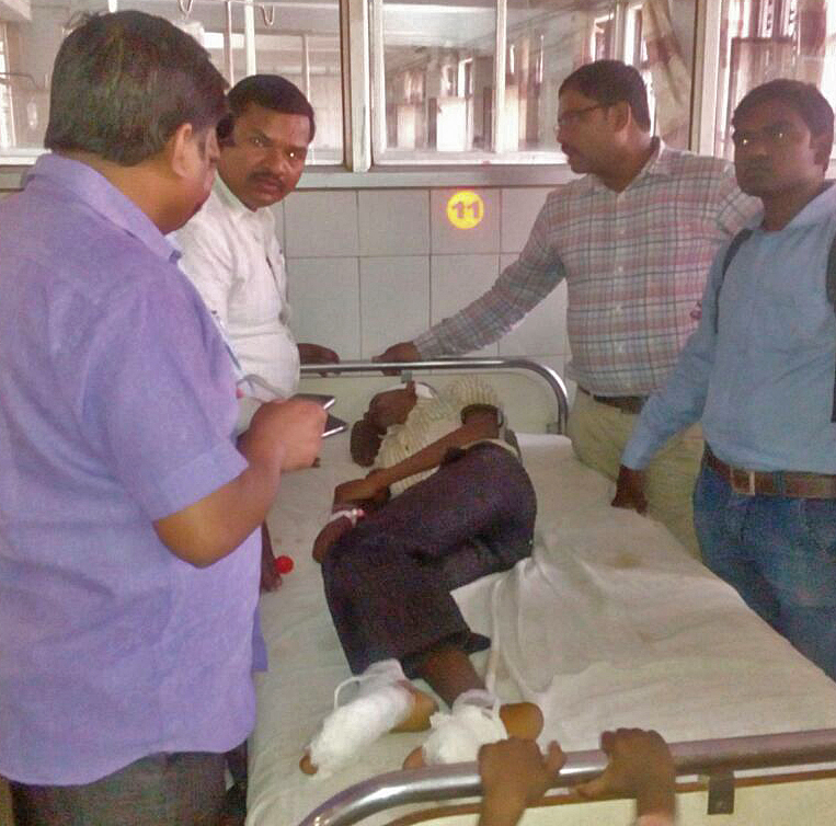 Area Christian Leaders visit Joginder Gold in the hospital. (Morning Star News)