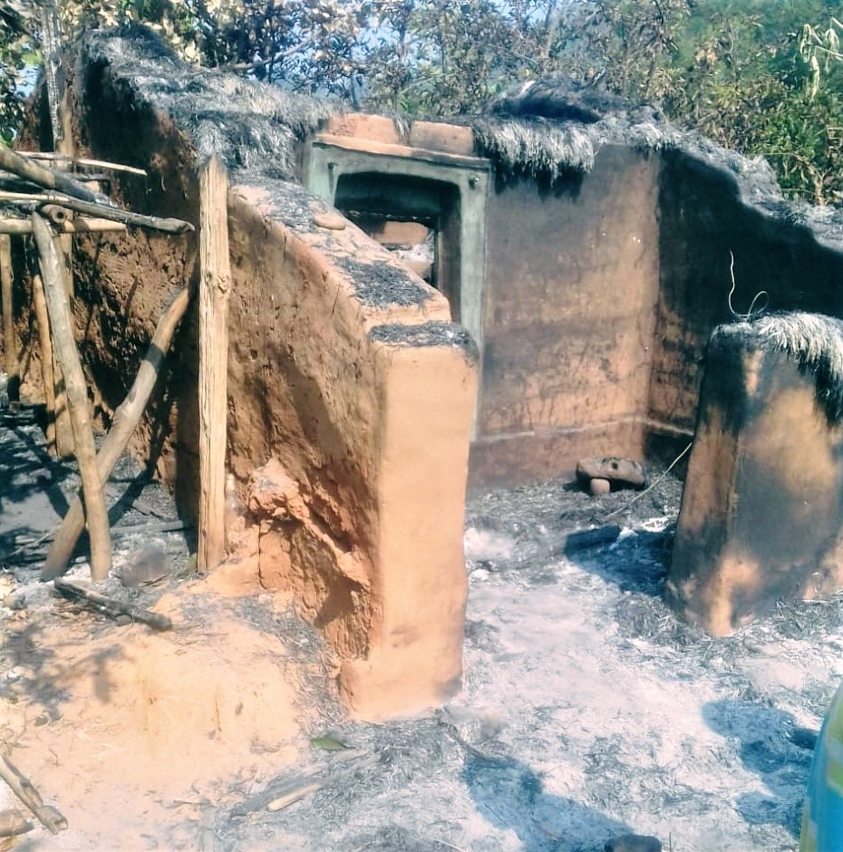 Tribal animists burned church building in Perigaon village, Odisha state, India, on Dec. 1, 2019. (Morning Star News)