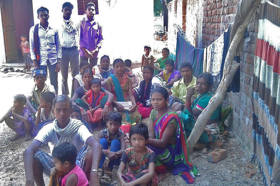 Families driven out of Katholi village, in Chhattisgarh state, India. (Morning Star News)