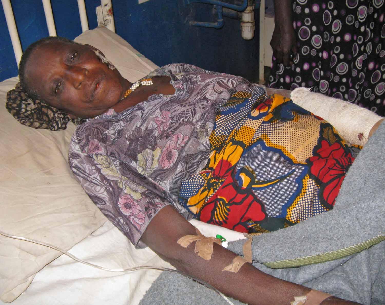 Bata Badugu, 75, and granddaughter Lydia, both injured in Shonong attack. (Morning Star News)