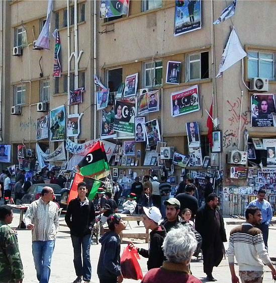 Photo: Courthouse square in Benghazi, April 2011; since the fall of the Muammar Gaddafi regime, penalties for proselytism are unclear. (Wikipedia photo by Bernd Brincken)