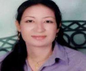 Dimyana Obeid Abd Al-Nour, a first-year teacher accused of insulting Islam.