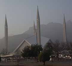 Faisal Mosque in Islamabad, Pakistan. (Wikipedia)