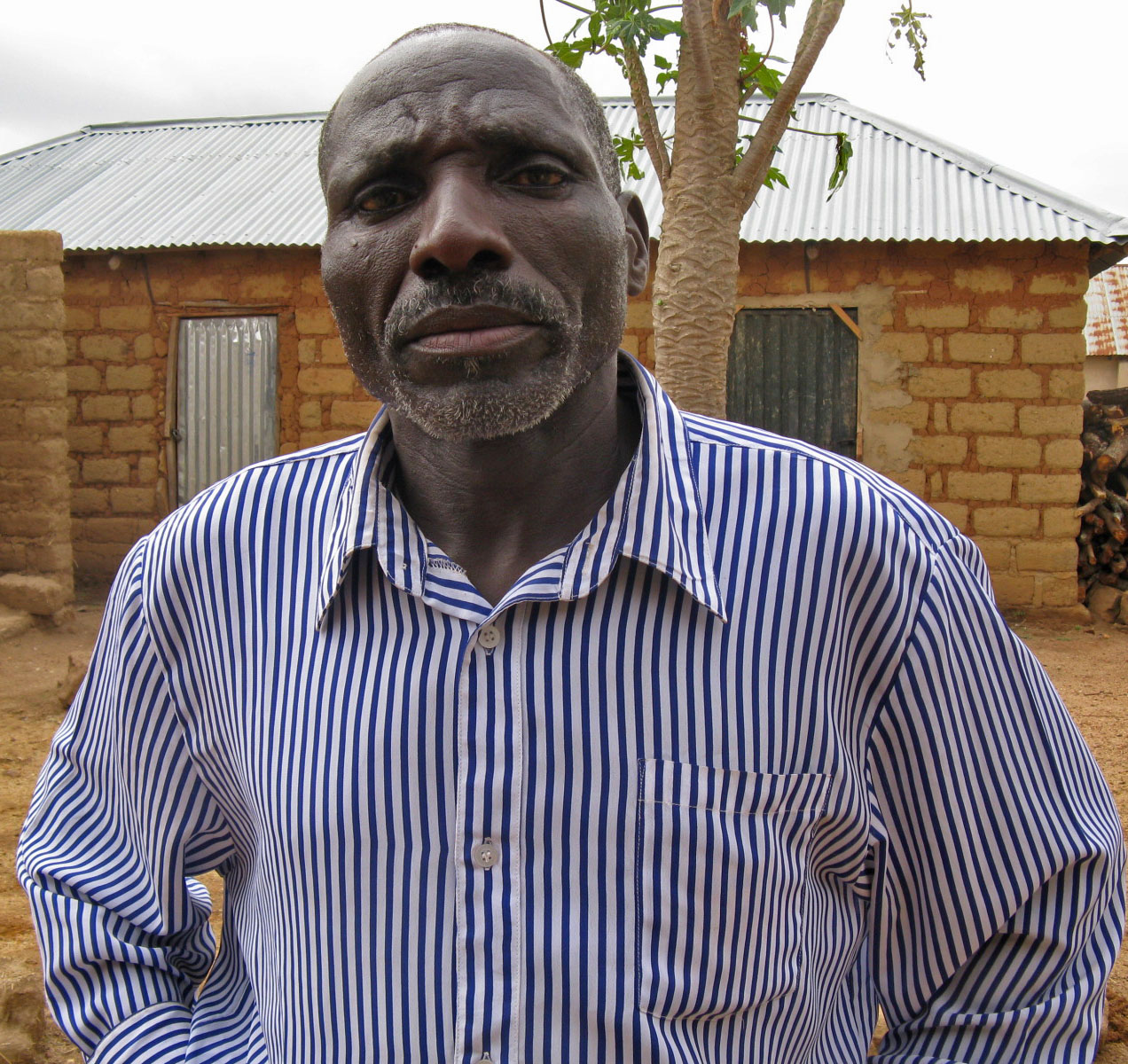 Farmer Hosea Mashaf rushed from a neighboring village to aid Christians under attack.  (Morning Star News photo)