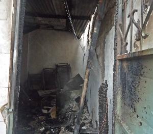 Fire damage to Salvation Army Church in Mombasa, Kenya. (Morning Star News)
