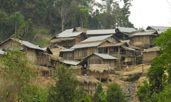 Village in Laos, where Christians often face pressures from Communist officials to deny Christianity.