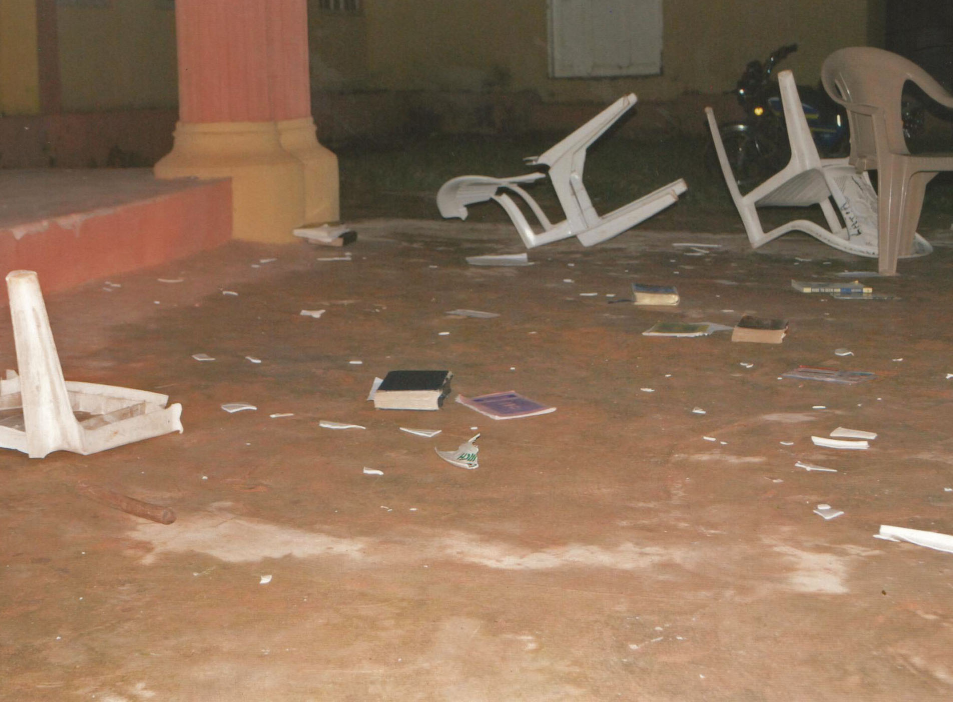 Property damaged at St. James Anglican Cathedral in Lafia, Nigeria. (Morning Star News photo)