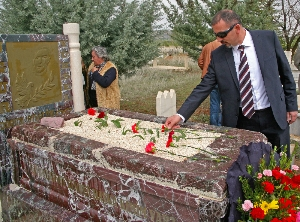 Soner Tufan of the Association of Protestant Churches in Turkey, after memorial ceremony for Uğur Yüksel on April 18. (Morning Star News)