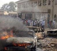 St. Andrew Protestant Military Church bomb blast in Jaji, Kaduna state, on Nov. 25. (Leadership photo)