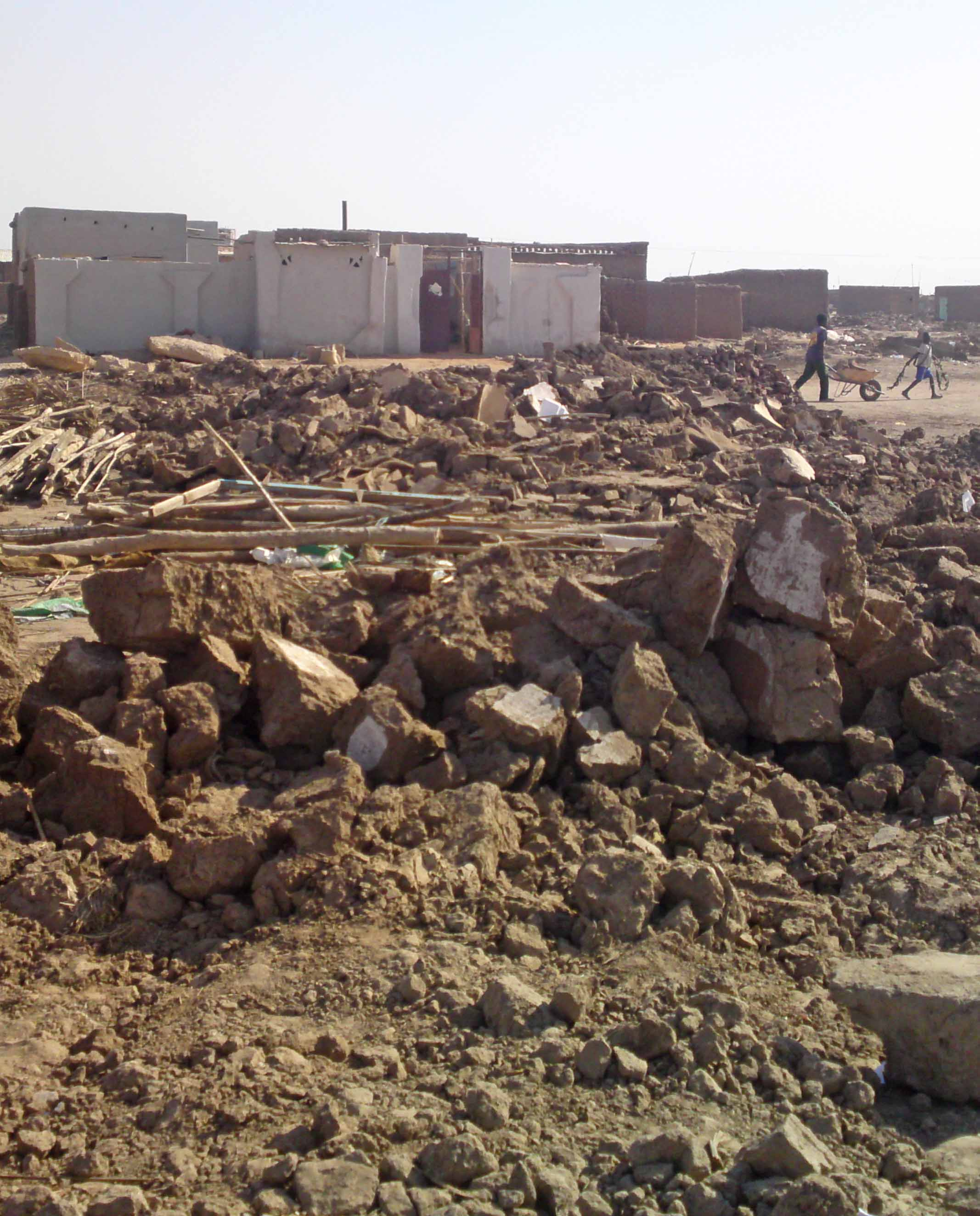Sudanese authorities left a Presbyterian Church of Sudan building in ruins in January.