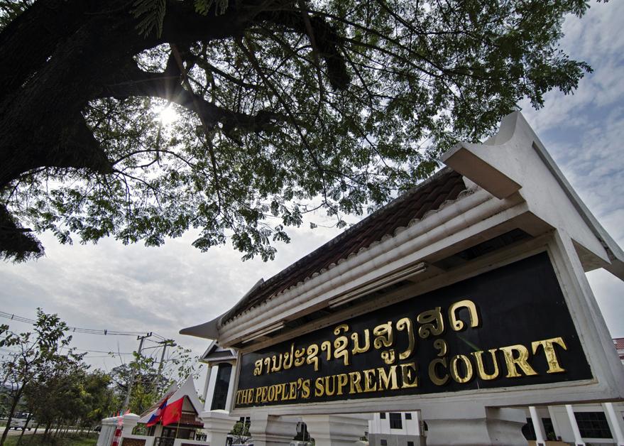 Court Building in Laos. (HRWLRF)
