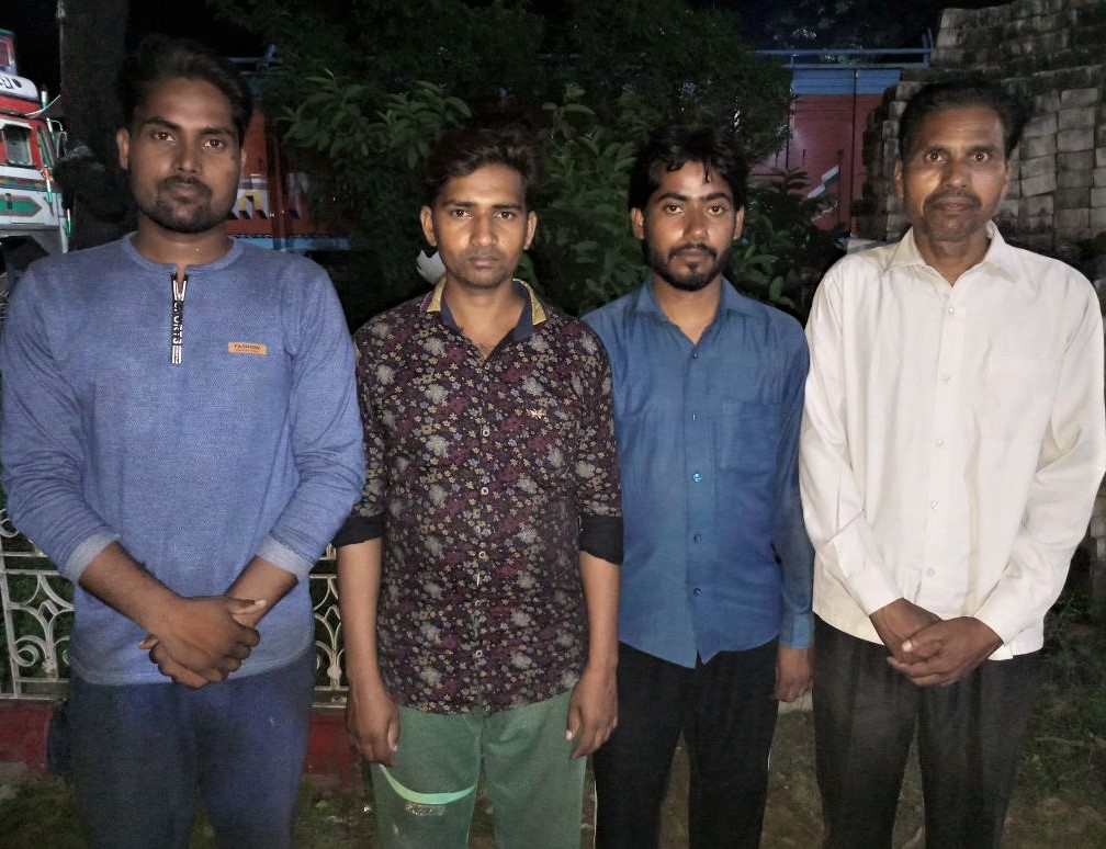 Christians who obtained bail after being jailed on Sept. 11 in Pratapgarh District, Uttar Pradesh on false charges of forcible conversion. (Morning Star News)