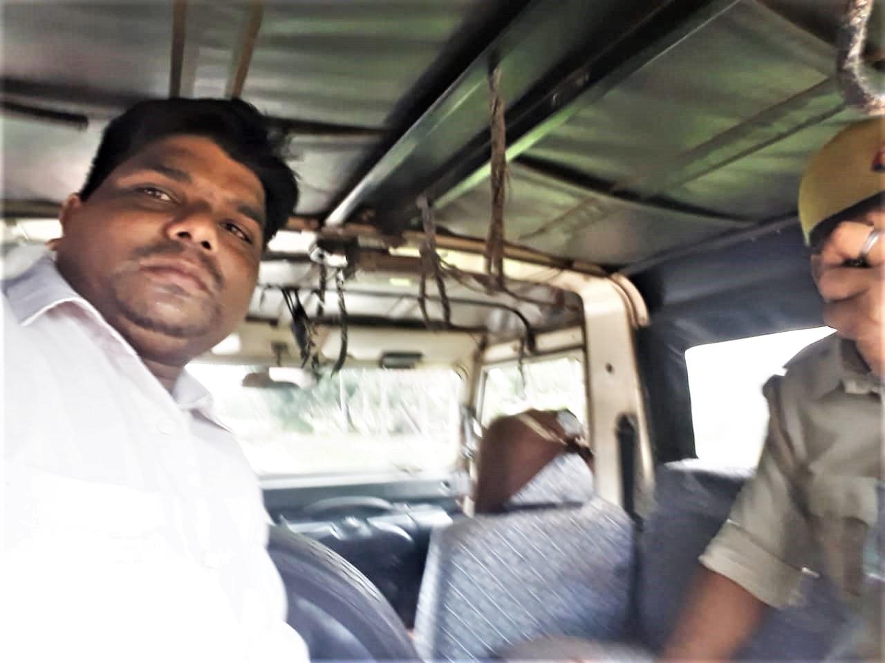 Pastor Biswas Das as police take him into custody. (Morning Star News)