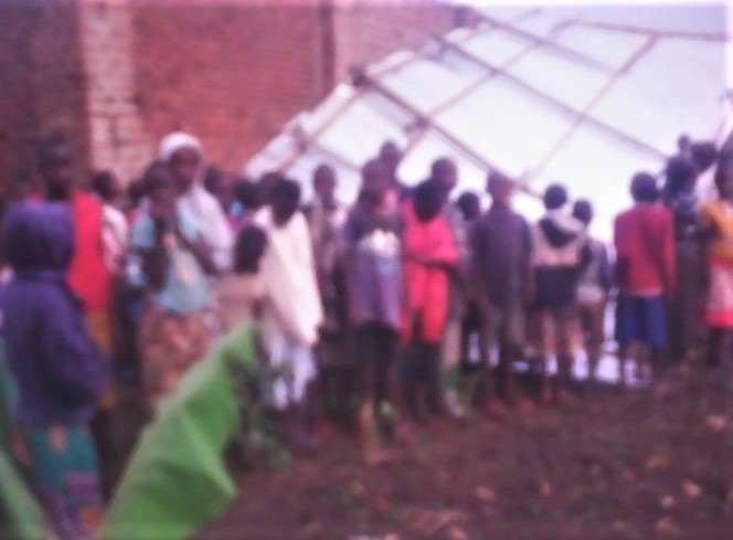 Kabuna villagers in eastern Uganda discover school building containing three classrooms pulled down on June 2, 2019. (Morning Star News)