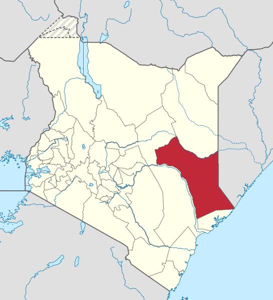Garissa County, Kenya. (NordNordWest, Wikipedia)