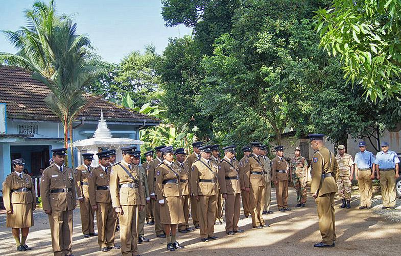 Police in Ingiriya, Sri Lanka. (Wikipedia