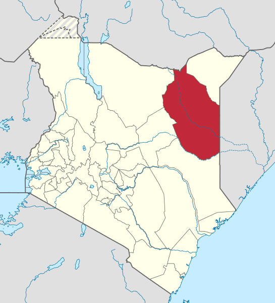Wajir County in northern Kenya. (NordNordWest, Wikipedia)