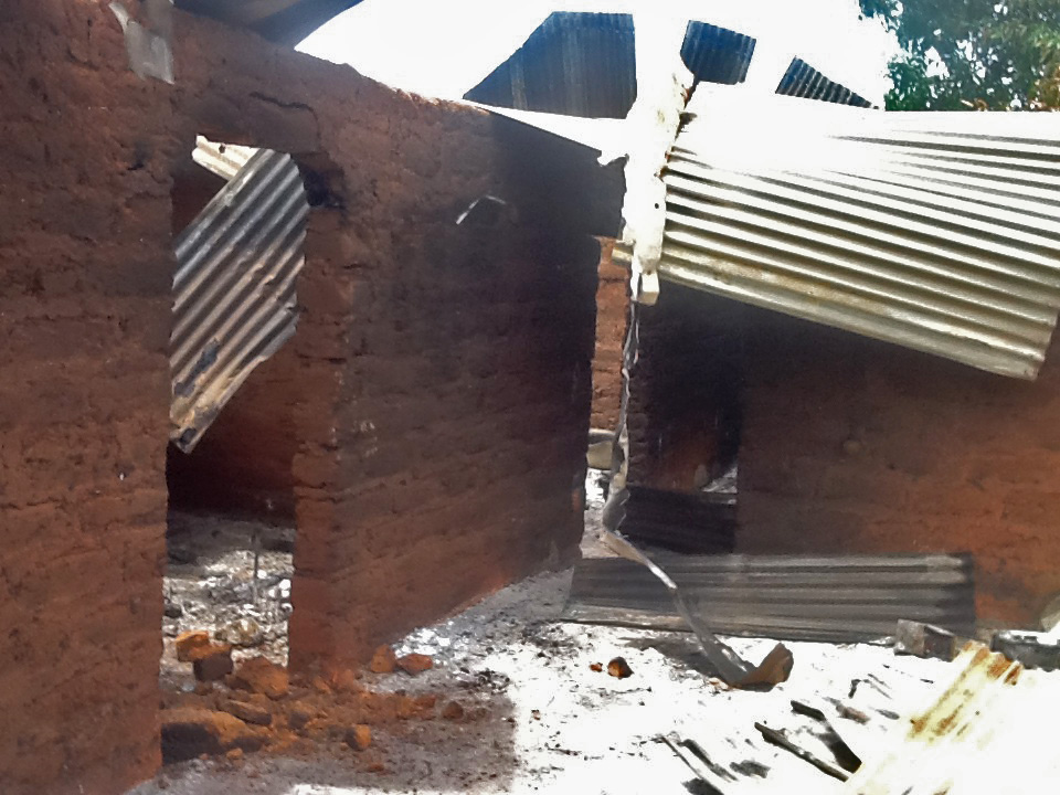 Inside house where the Rev. Julius Jako, his wife and daughter were slain in Karshin Daji, Kaduna. (Morning Star News)