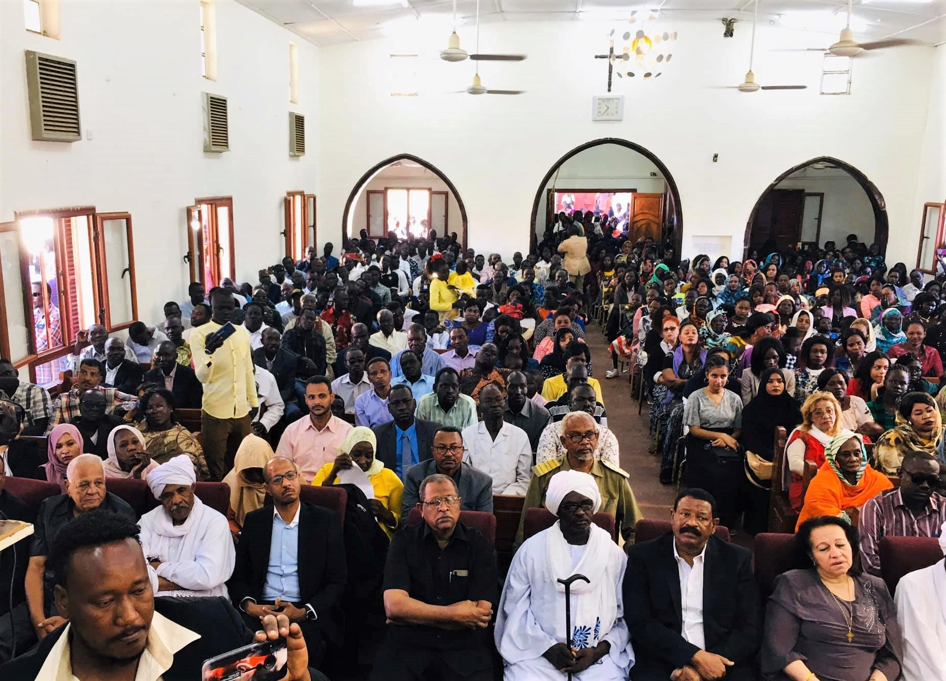 Muslim government officials attend Christmas service at Khartoum Bahri Evangelical Church on Dec. 25, 2019. (Courtesy of Bahri church)