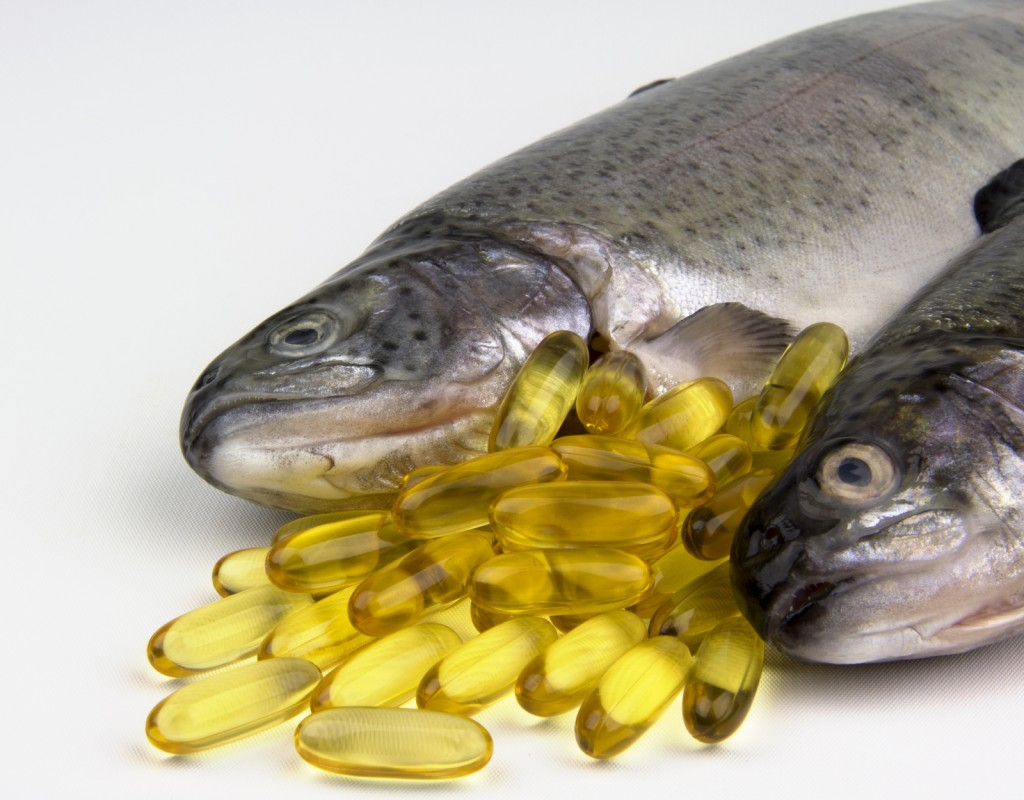 fish and omega-3 capsules