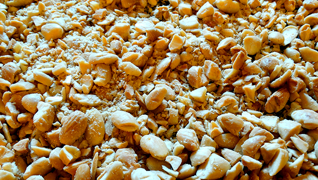 chopped, toasted almonds