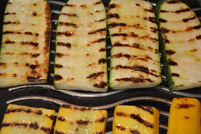 veggies with grill marks